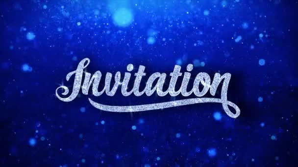 Pozvánka modrý text přání částice pozdravy, pozvánka, pozadí oslavy