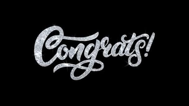 Gratula villogó szöveg kívánja részecskék köszöntések, meghívó, ünnepi háttér