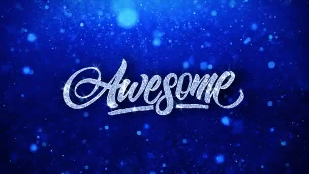 Awesome Blue Text Wishes Particles Greetings, Invitation, Celebration Background