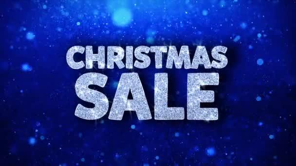Weihnachtsverkauf blauer Text Wünsche Teilchen Grüße, Einladung, Feier Hintergrund