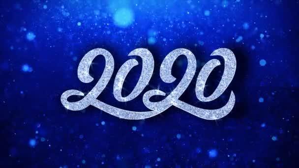 Šťastný nový rok 2020 přeje si částice pozdravy, pozvání, pozadí oslavy