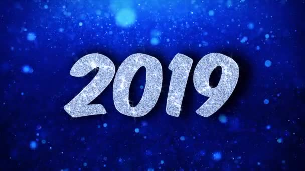 2019 New Year Wishes Particles Greetings, Invitation, Celebration Background