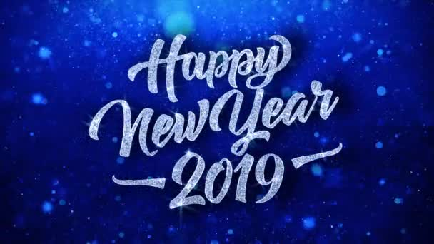 2019 Happy New Year Wishes Particles Greetings, Invitation, Celebration Background