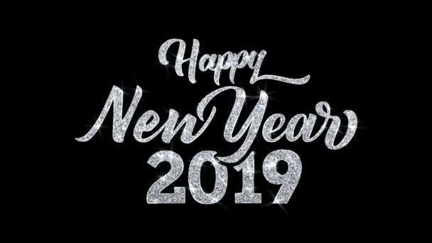 Šťastný nový rok 2019 přeje si částice pozdravy, pozvání, pozadí oslavy