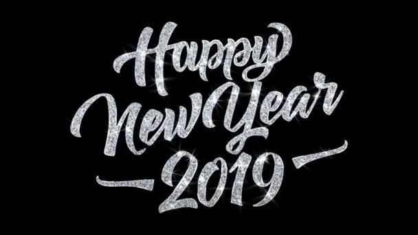 2019 šťastný nový rok přání částic pozdravy, pozvánka, pozadí oslavy