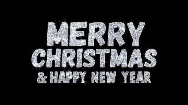 Veselé Vánoce šťastný nový rok přání částic pozdravy, pozvánka, pozadí