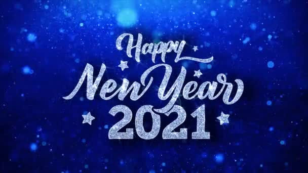 happy new year 2021 blue text wishes particles greetings invitation celebration background stock video c infi studio 267501478 happy new year 2021 blue text wishes particles greetings invitation celebration background
