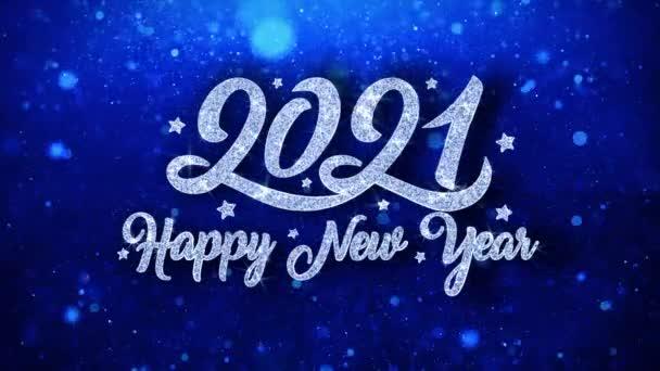 2021 šťastný nový rok modrý text přání částice pozdravy, pozvánka, pozadí oslavy