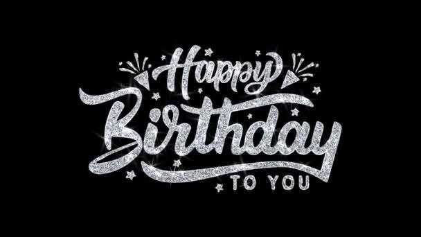 Alles Gute zum Geburtstag blinkender Text wünscht Teilchen Grüße, Einladung, Feier Hintergrund