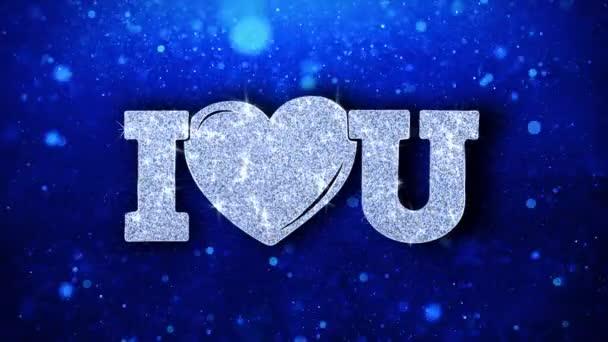I srdce vy modrý text přání částic pozdravy, pozvánka, pozadí oslavy