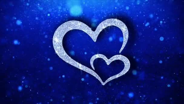 Heart Blinking Element Icon Particles Greetings, Invitation, Celebration Background