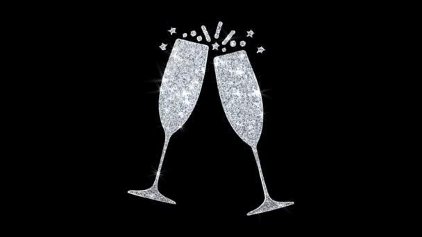 Boldog születésnapot elem hunyorgó Icon részecskék köszöntések, meghívó, ünnepi háttér