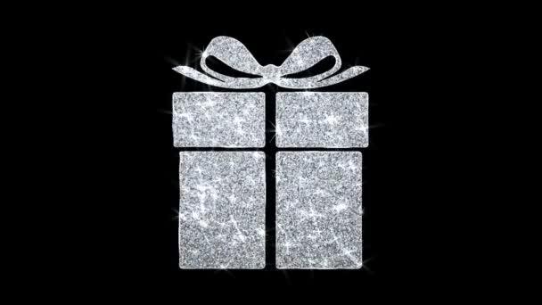 Šťastný prvek narozenin blikající ikona částice pozdravy, pozvánka, pozadí oslavy