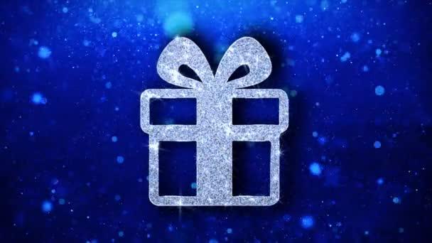 Weihnachten Ornament Geschenk Element blinkende Ikone Partikel