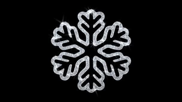 Karácsonyi dísz Snowflake elem villogó ikon részecskék háttér