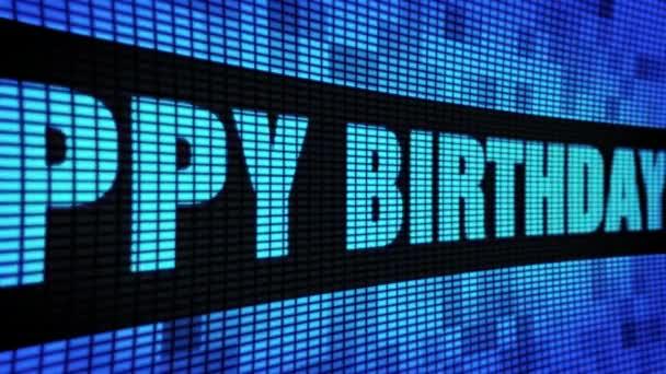 40. Glückwunsch zum Geburtstag Seite Text blättern LED Wand Panel Anzeigetafel