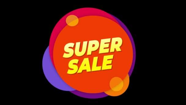 Super eladás szöveg matrica színes eladás popup animáció.
