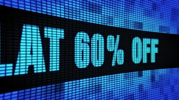 Lapos 60 százalék off Side szöveg görgetés LED fali pannel kijelző tábla