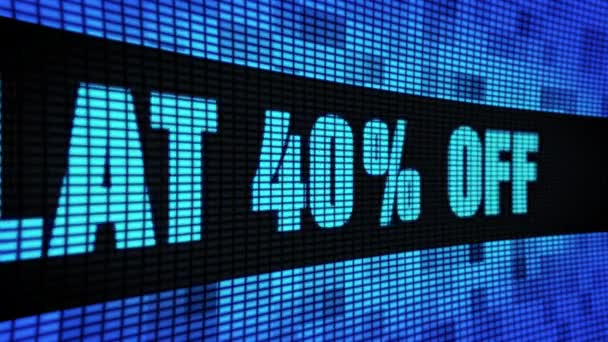 Lapos 40 százalék off Side szöveg görgetés LED fali pannel kijelző tábla