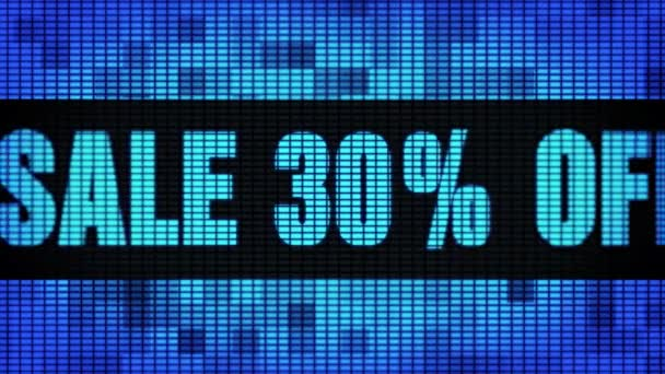 Eladó 30 százalék távoli eleje szöveg tekerő vezetett fal pannel kijelző előlap