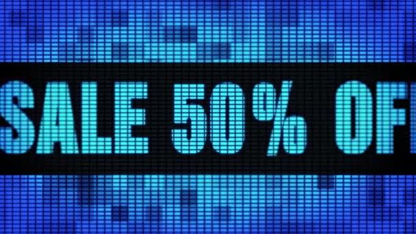 Eladás 50 százalék távoli eleje szöveg tekerő vezetett fal pannel kijelző előlap