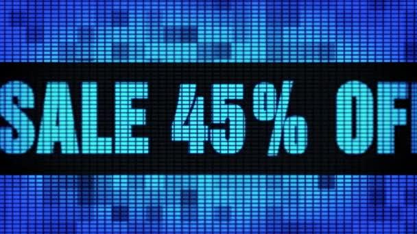 Eladás 45 százalék távoli eleje szöveg tekerő vezetett fal pannel kijelző előlap