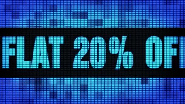 Lakás 20 százalék távoli eleje szöveg tekerő vezetett fal pannel kijelző előlap