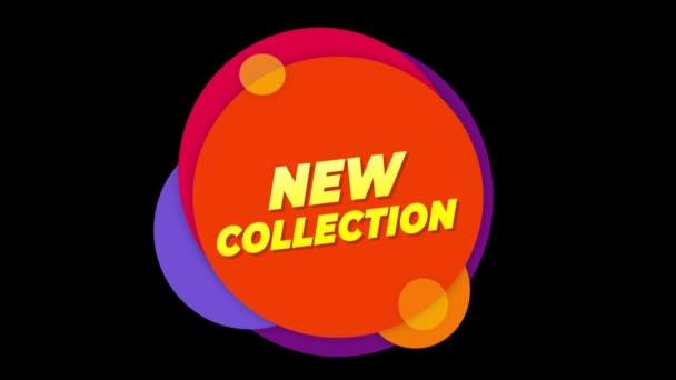 Új gyűjtemény szöveg matrica színes eladás popup animáció.