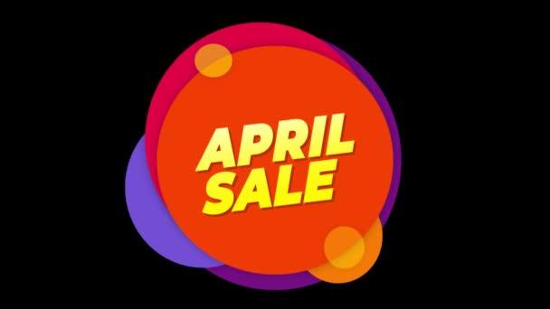 Április eladó szöveg matrica színes eladás popup animáció.