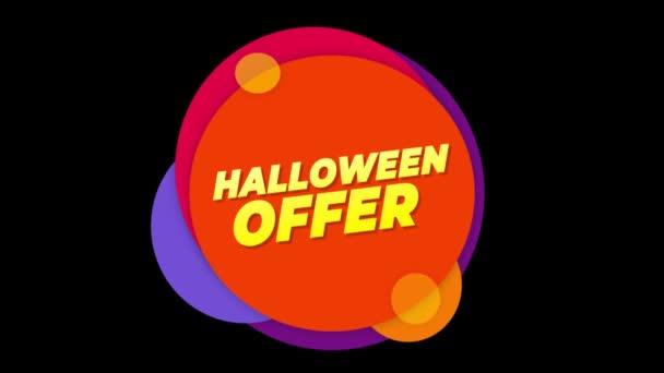 Halloween ajánlat szöveg matrica színes eladás popup animáció.