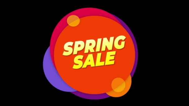 Jarní prodej text štítek barevný prodej místní nabídka animace.
