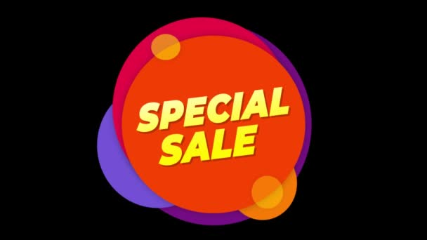 Special Sale Text Sticker Colorful Sale Popup Animation.