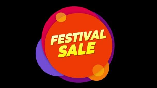 Fesztivál eladás szöveg matrica színes eladás popup animáció.