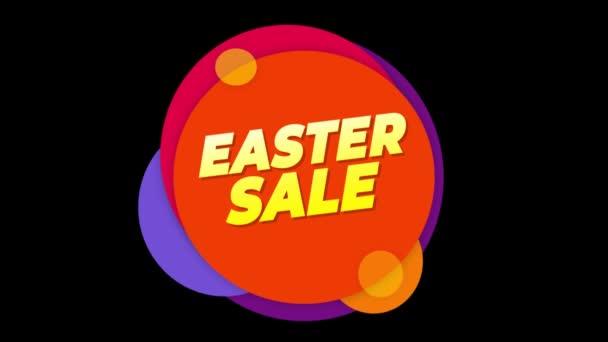 Húsvét értékesítés szöveg matrica COLORFUL eladás popup animáció.