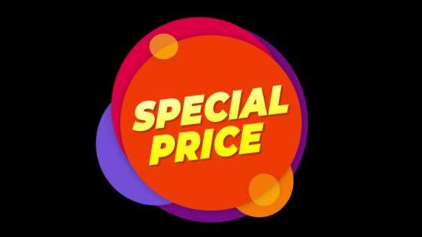 Speciális ár szöveg matrica színes eladás popup animáció.