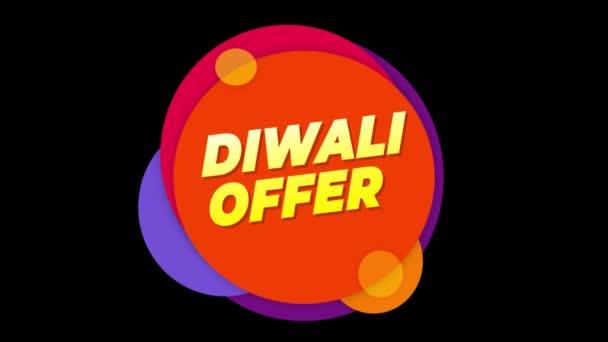 Diwali ajánlat szöveg matrica színes eladás popup animáció.