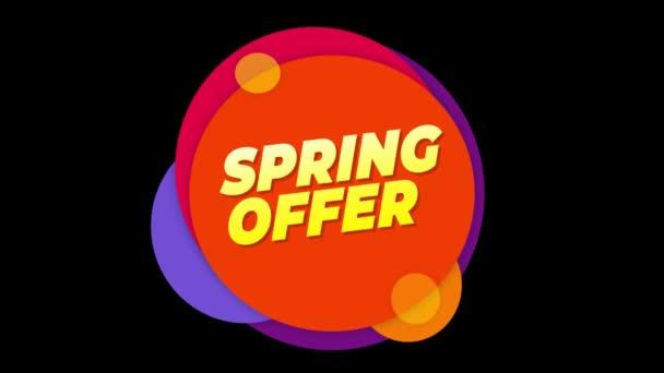 Jarní nabídka text štítek barevný prodej místní nabídka animace.