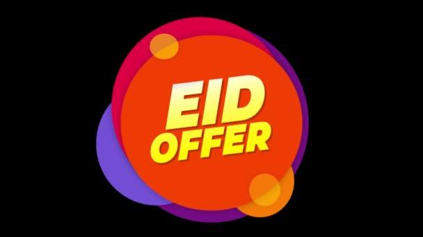 Eid ajánlat szöveg matrica színes eladás popup animáció.