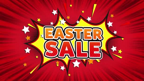 Easter Sale Text Pop Art Style Comic Expression.