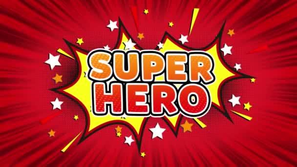 Super Hero szöveg pop art Style Comic kifejezés.