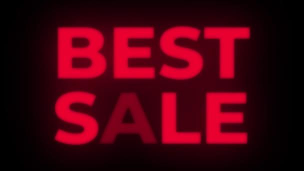 Text nejlepšího prodeje blikání zobrazit propagační smyčka.