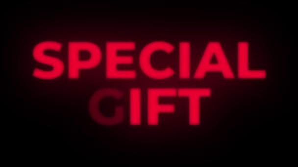 Különleges ajándék szöveg Flickering bemutatás előléptetési hurok.
