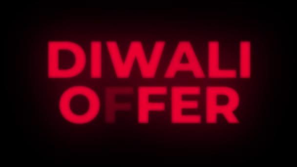 Diwali ajánlat szöveg villódzó bemutatás előléptetési hurok.