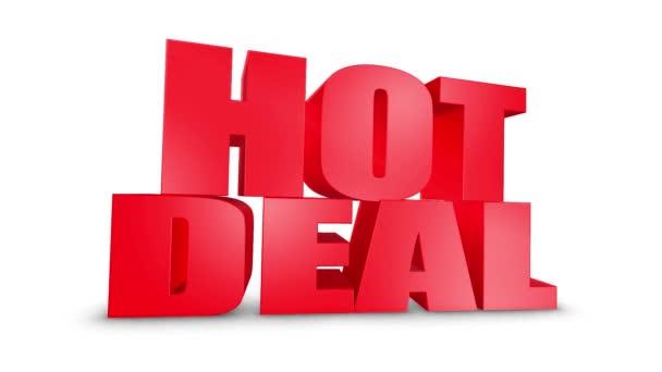 Hot Deal 3D szöveg gyere le 3D animáció Render.