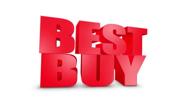 Best Buy 3D szöveg gyere le 3D animáció Render.