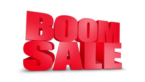 Boom eladó 3D szöveg gyere le 3D animáció Render.