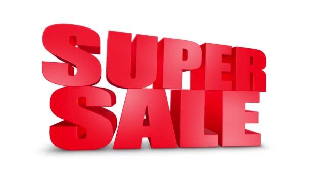 Super eladás 3D szöveg gyere le 3D animáció Render.