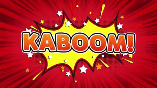 Kaboom szöveg pop art Style képregény kifejezés.