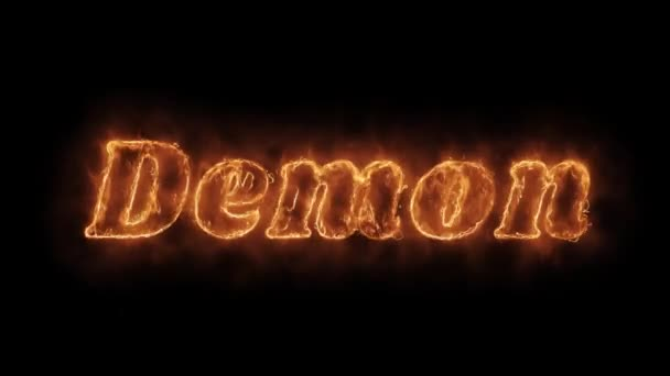 Demon Word Hot animált Burning reális Fire Flame loop.