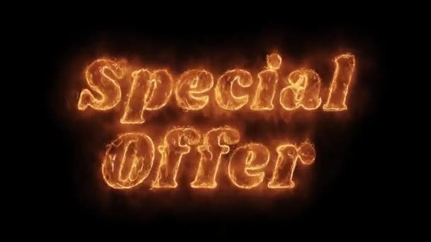 Special Offer Word Hot Animated Burning Realistic Fire Flame Loop.